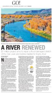 Riverbend Engineering River Restoration project San Juan River Quality Waters below Navajo Dam Simon Canyon & Rainbow Lodge