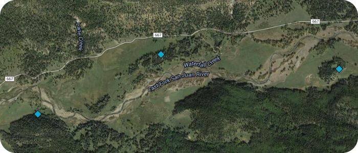 East-Fork-San-Juan-River-near-Pagosa-Springs-CO-EFR-Map